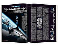 "Virgin Galactic ""Star Tourists"" - magazine layout"