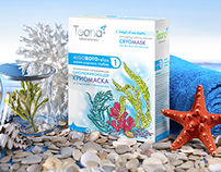 Package design of cosmetic masks «AlgoBotoRelax»