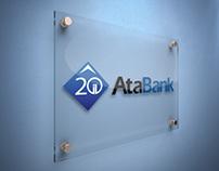 AtaBank 20 year logos concept