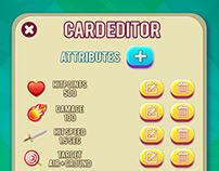 Game Card Editor Screen