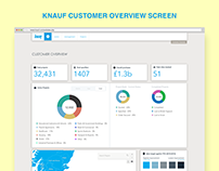 KNAUF Customer Overview Screen UI Design