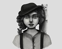 Animals and Girls\Illustration series