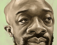Isaac Hayes Portrait