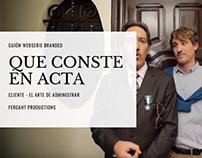 Que Conste en Acta - Webserie publicitaria para ADA