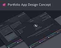 Concept Portfolio Ipad App Design