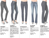 Fit guide for women denim
