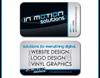 In Motion Solutions Business Card