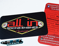 All In Racing Engines Business Card