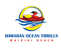 Hawaiian Ocean Thrills Logo, Rack Card and Mini Bus
