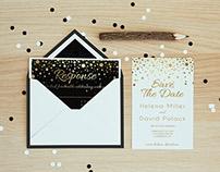 Star Dust Wedding Invitation Set