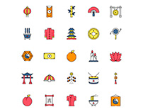 Chinese Tradition Icon Set