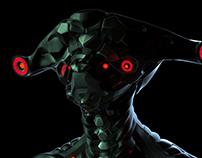 Hammerhead Alien Robot Concept
