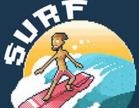 """SURF"" Pixel Art"