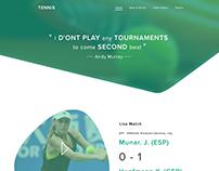 Tennis Website UI