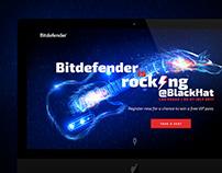 Bitdefender@BlackHat landing page
