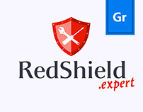RedShield .expert | logo design