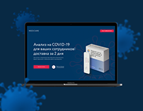 Landing page / Tests for Covid-19