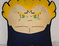 Handmade Dragon Ball Z Majin Vegeta v1.43 Plush Pillow