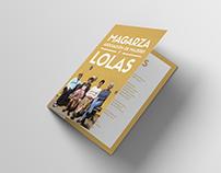 Diseño de díptico para proyecto documental LOLAS