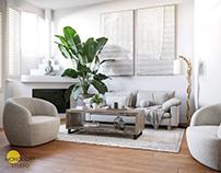 Living Room 3D Rendering | CGI