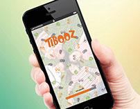 Identidade visual para o jogo Tibooz.