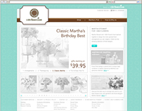 Martha Stewart Flowers Microsite