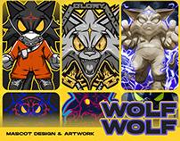 HADES WOLF-WOLF Character/ Mascot Branding Artwork