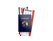 Passport w/ Tickets Mockups