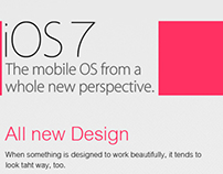 iOS7 new features || Infographic