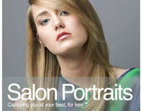Website copy and tagline: Salon Portraits