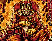 Gas Mask Destruction T-shirt Design