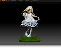 3D Sculpture Alice | Design by Pop Wonderland