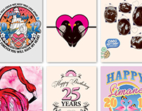 Gift Cards and Illustrations