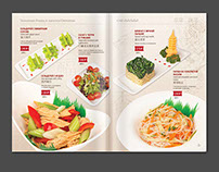 Two styles for Chinese restaurant`s menu