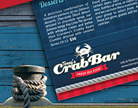 Crab Bar Flyer Menu