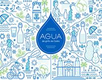 Aguas de Cádiz - ilustración de marca