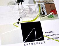Charte graphique et site internet pour Artravaux
