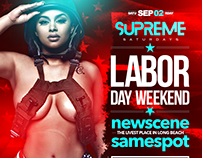 Supreme Saturdays inside TACO BEACH CANTINA