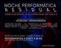 Noche Performática Residual - Afiche promocional