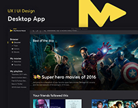 My Movie Mood - Desktop App Concept Design