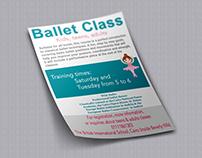 BIS - Ballet Class's Flyer