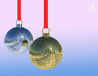 Happy Holidays - created in Adobe DImension CC