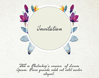 Free Artsy Wedding Invitation Template