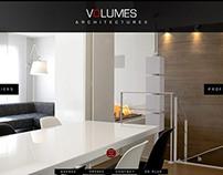 Refonte du site web Volumes Architectures à Lyon