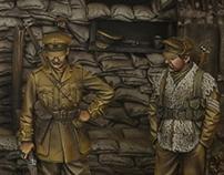 WWI Trench section, Ploegsteert Wood 1915