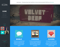 ICON - PSD Portfolio & Blog Template