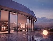 Hotel Hilton OVO Wroclaw - Architecture Visualization