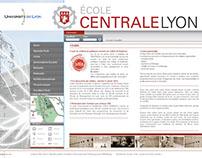 ECOLE CENTRALE DE LYON - Web Design