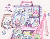 Polly pocket Paris holiday