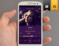 Flat Mobile App Music Player
